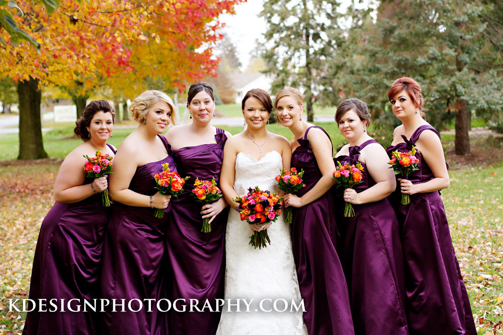 Central Illinois Wedding Florist Fall With A Pop Of