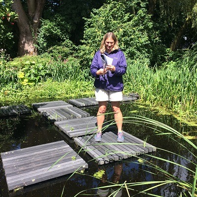 Designing stepping stones across a pond with innovative composite materials