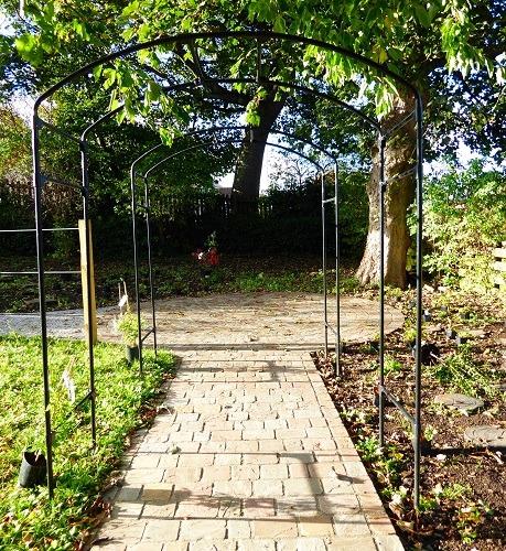 pergola in Scottish borders garden