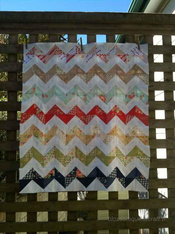 patchwork chevron