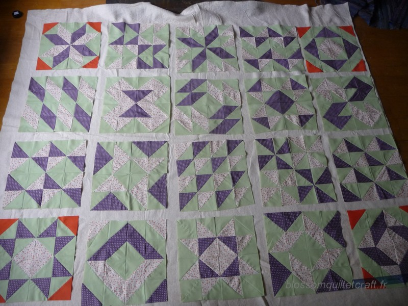 Patchwork pour d butant blossom quilt craft - Modeles patchwork pour debutant ...
