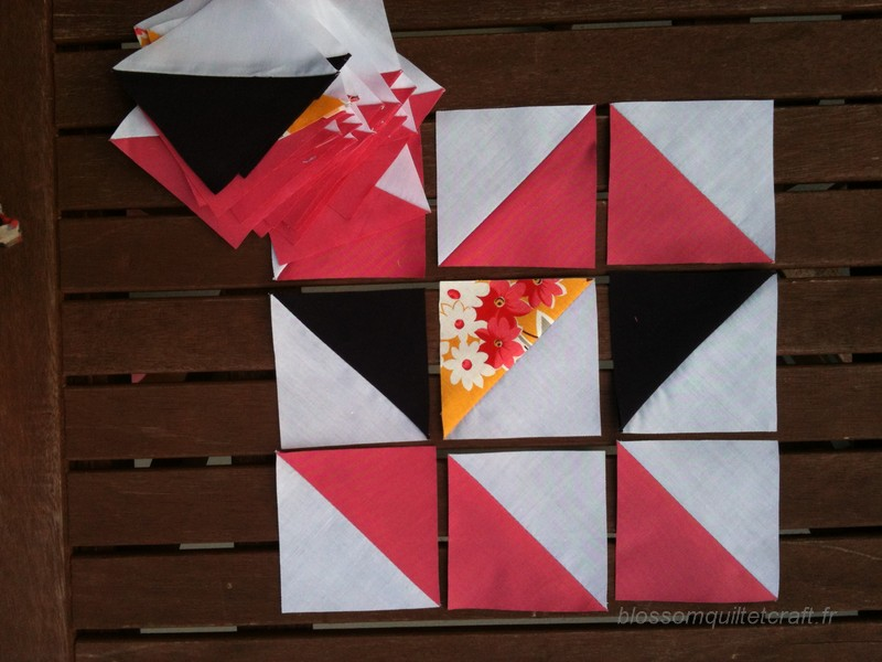 triangles patchwork aztec