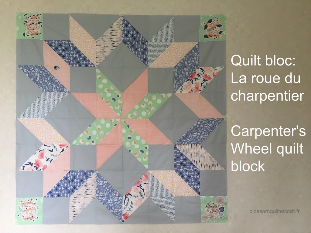 Carpenter's wheel quilt block la roue du charpentier