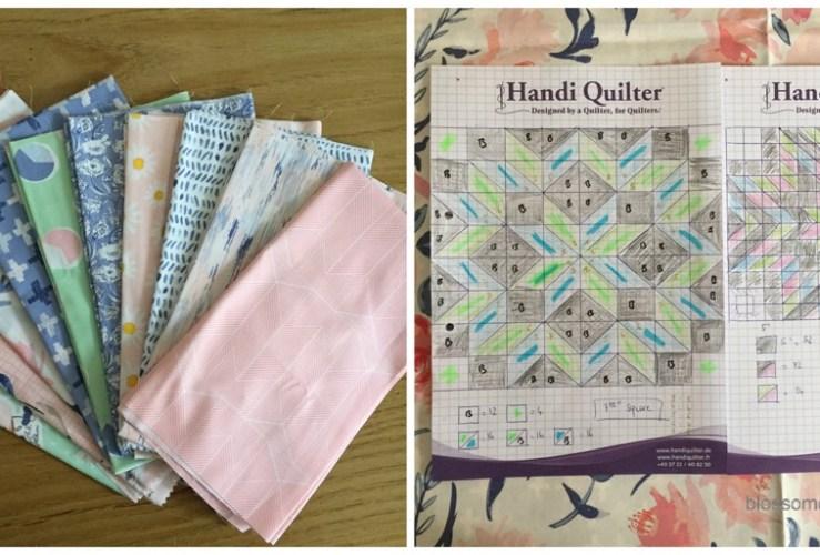 Wonderful things quilt top – la roue du charpentier