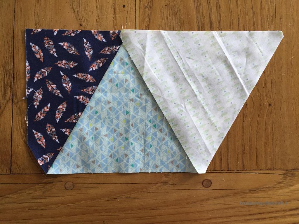 coudre des triangles patchwork