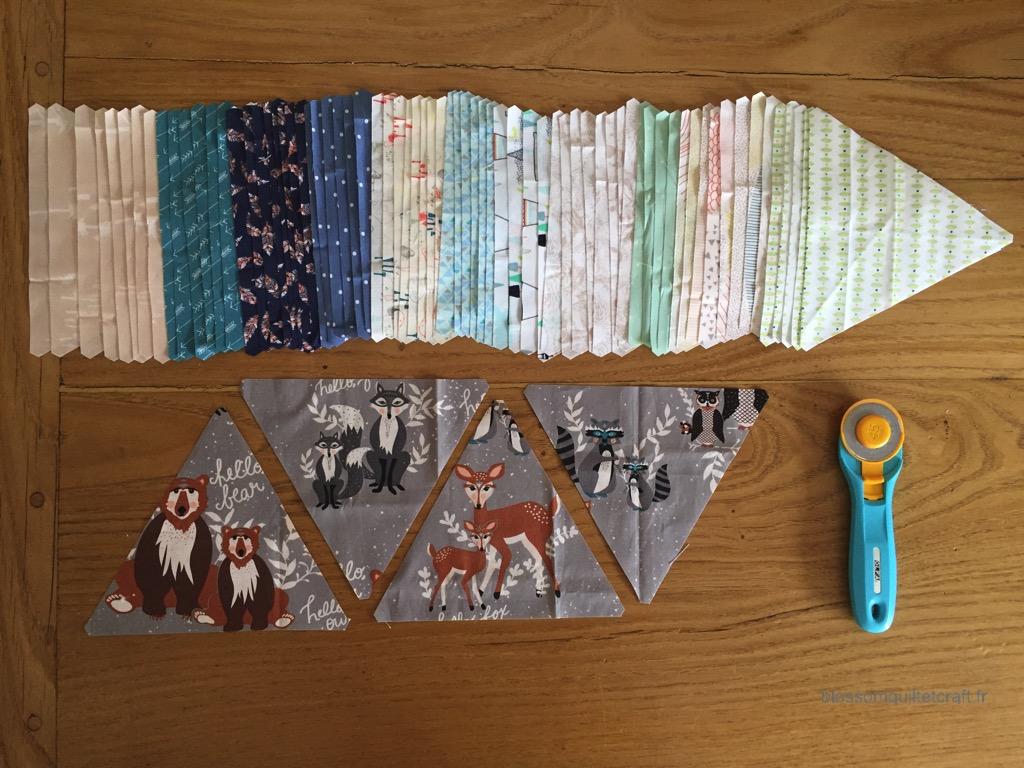 couper triangles pour patchwork