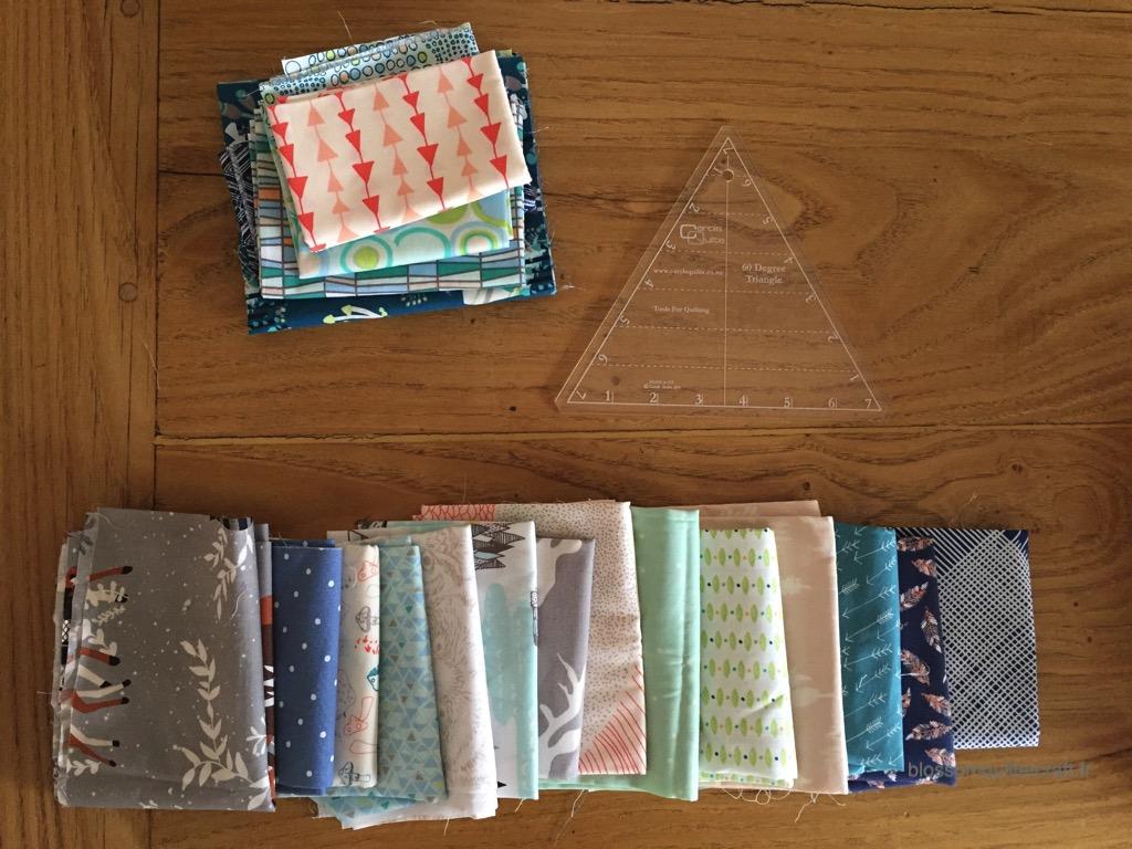 préparation patchwork triangles