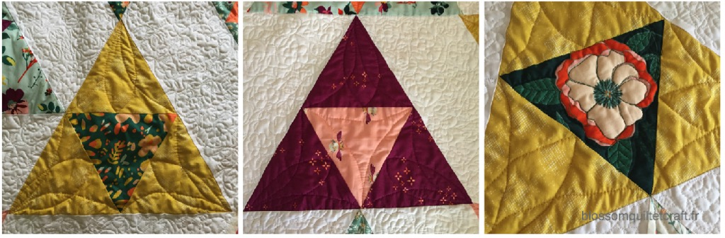 Quilting dans triangle