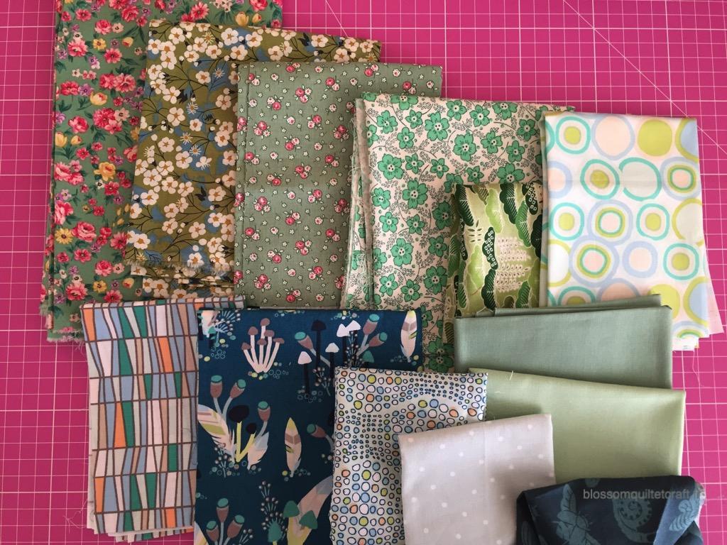 choix des tissu patchwork