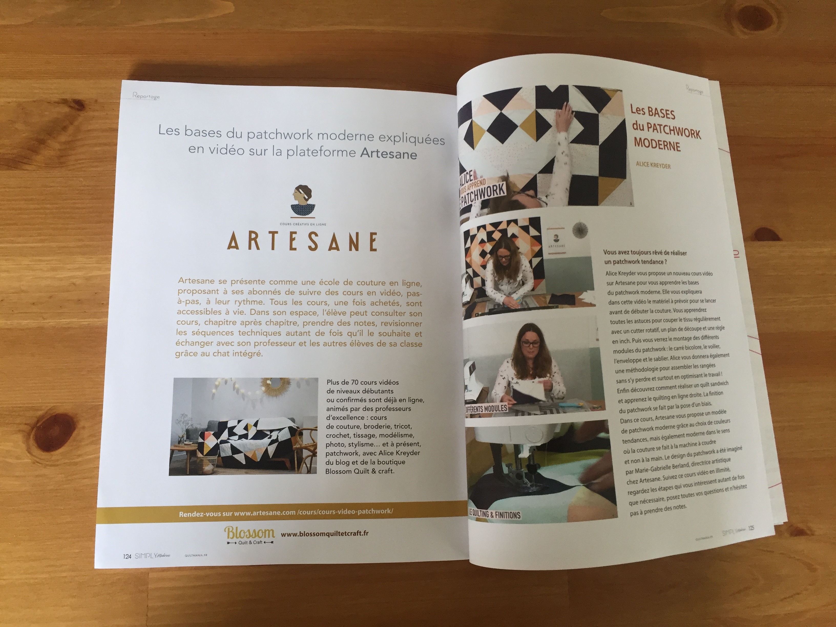 Article dans Simply ModerneQuiltmania