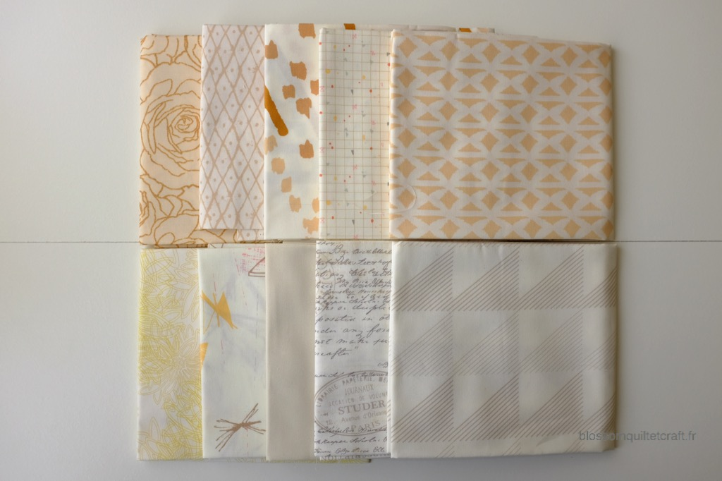 Boite color master 12 tissu patchwork low volume