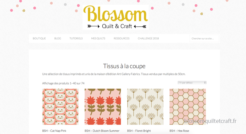 Boutique Blossom Quilt et Craft Blush