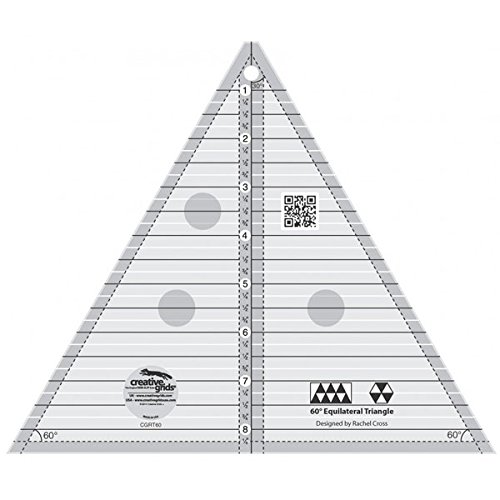 Creative Grids Non-Slip 60° Triangle Ruler 8