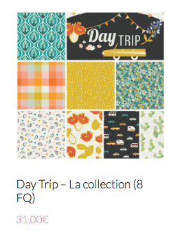 collection tissu moderne pour patch day trip