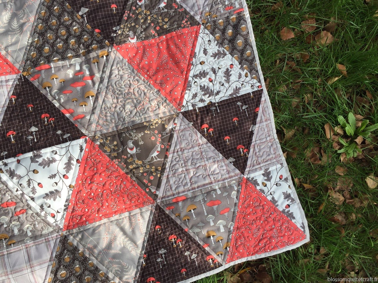 patchwork triangle cours gratuite collection Axelle