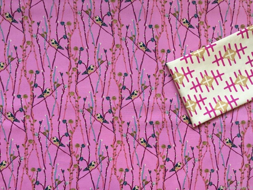tissu oiseaux art gallery fabrics boho fusion