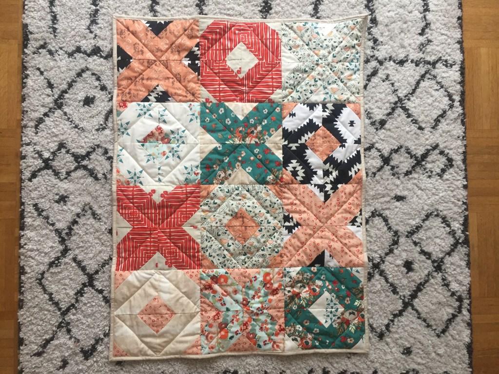 Patchwork quilt XOXO