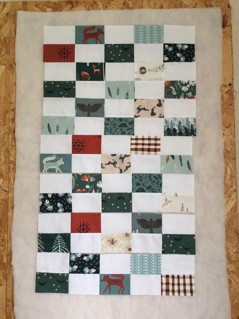 10,20 €//M 50 cm Wool Peach tissu élastique arbres Arbre Feuilles Forêt Motif