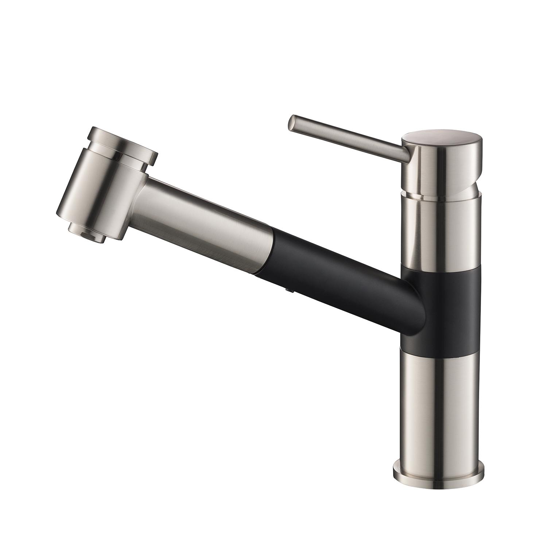 single handle pull out kitchen faucet matte black f01 207 04