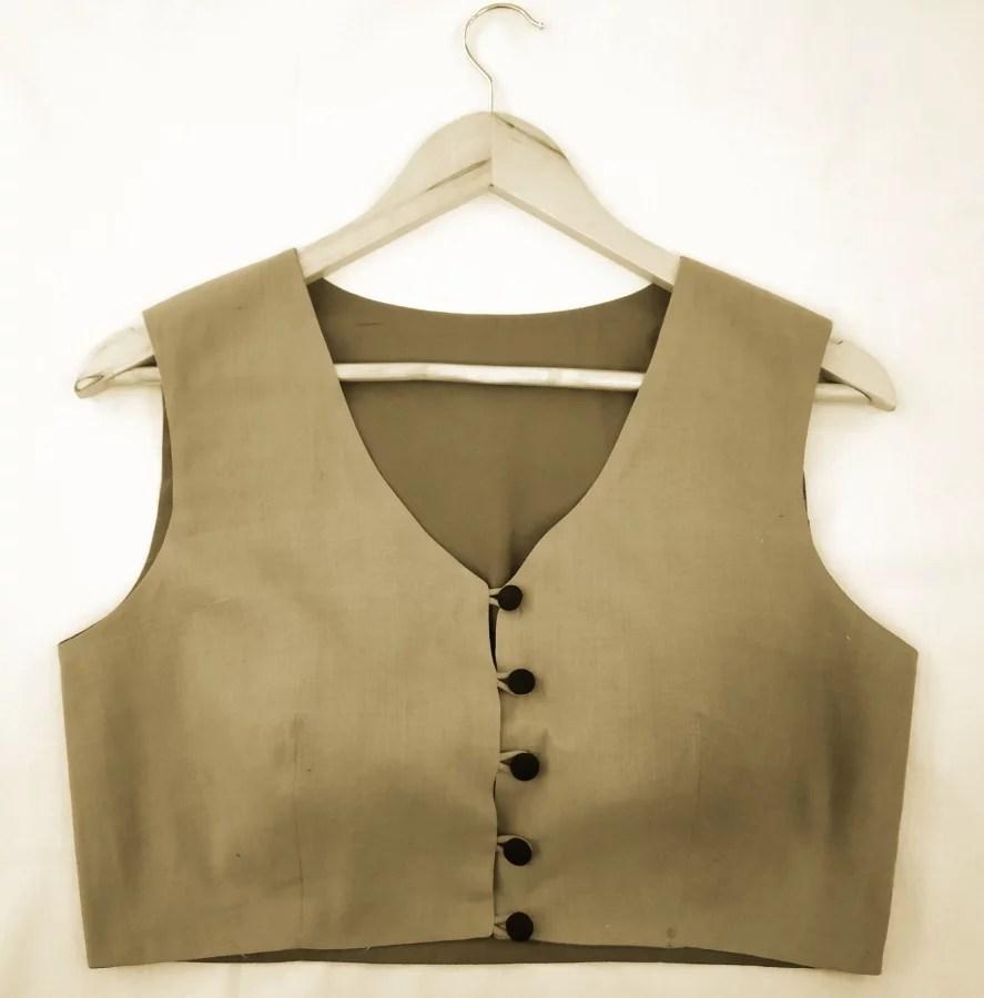 Blouse Guru Waist Coat Design 1