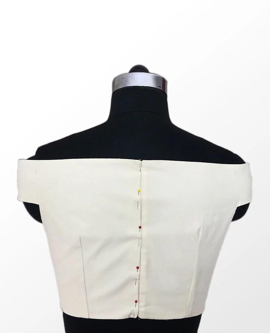 Off Shoulder Blouse Back Sewing Patterns