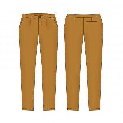 patron de couture femme - Fusain le pantalon classique