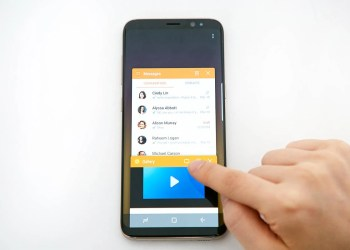 Samsung se met au smartphone pliable
