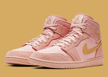 "Air Jordan 1 Mid SE ""Coral/Gold"""