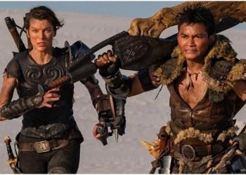 "Voici l'affiche du film "" Monster Hunter "" qui met en scène Milla Jovovich et Tony Jaa"