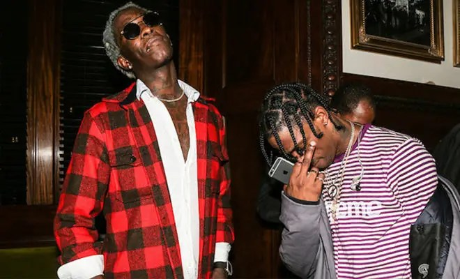 "Travis Scott & Young Thug drop ""OUT WEST"""
