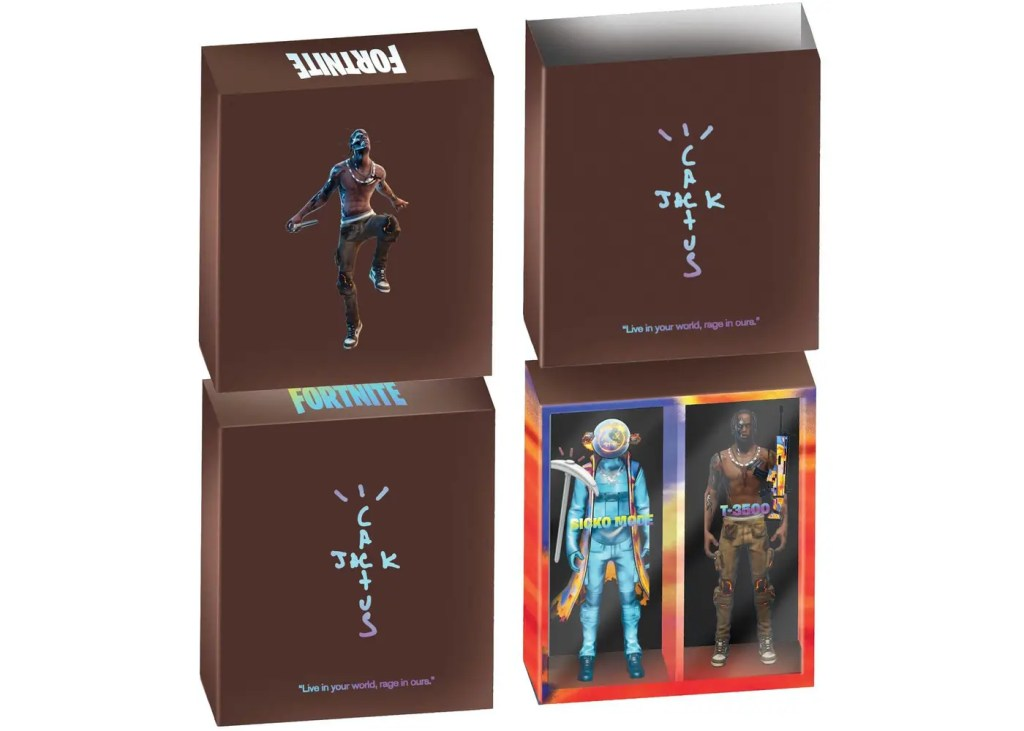 Travis Scott Fortnite action figure