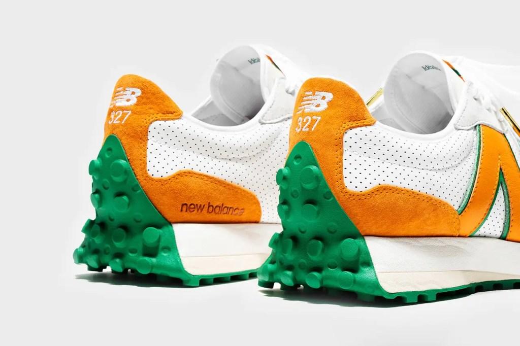Les deux collaboreront à la sortie d'un modèle inédit NB 327, dont la silhouette est vêtue d'une palette de couleurs inspirée des oranges marocaines et des uniformes de tennis, un clin d'œil à l'héritage franco-marocain de Tajer et au style de luxe des sports-meets de la maison de couture.