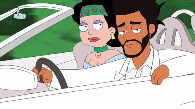The Weeknd dans le célèbre cartoon American Dad !