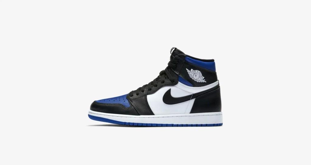 Sneakers Air Jordan 1 Retro High OG Black Game « Royal toe »