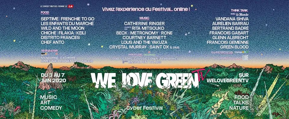 We Love Green : Le festival 2020 va être 100% online !