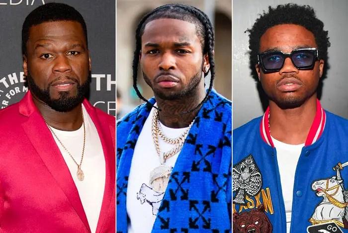 50 Cent & Roddy Ricch tournent une vidéo pour la nouvelle chanson Pop Smoke