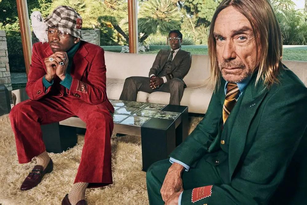 "A$AP Rocky, Tyler, The Creator, et Iggy Pop en mode ""Life of a Rock Star"" pour Gucci"