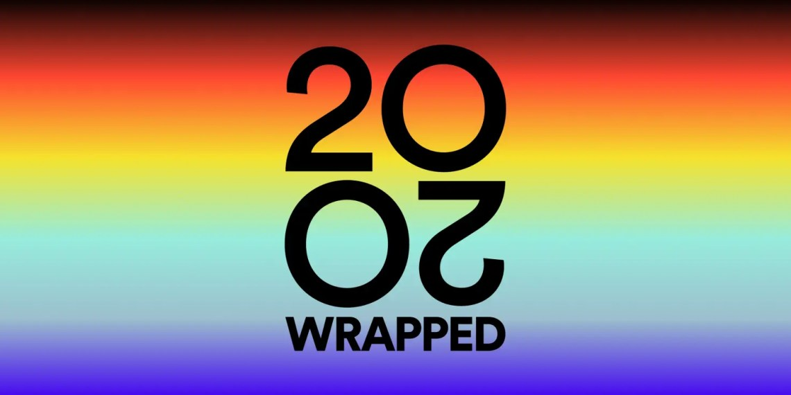 """Spotify présente """"Wrapped """"sa liste de fin d'année 2020"""