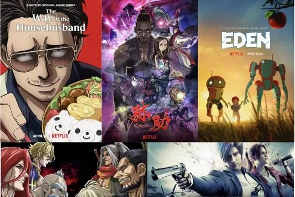 """Netflix prévoit de sortir """"environ 40"""" nouveaux anime pour 2021."""