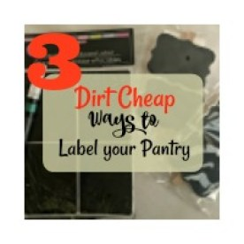 dirt cheap ways to label your pantry