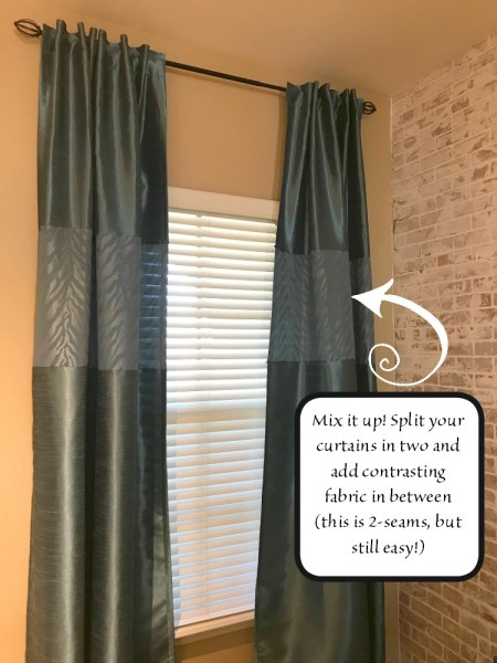 lengthen curtains with one seam ultimate diy tutorial blowing away out west. Black Bedroom Furniture Sets. Home Design Ideas