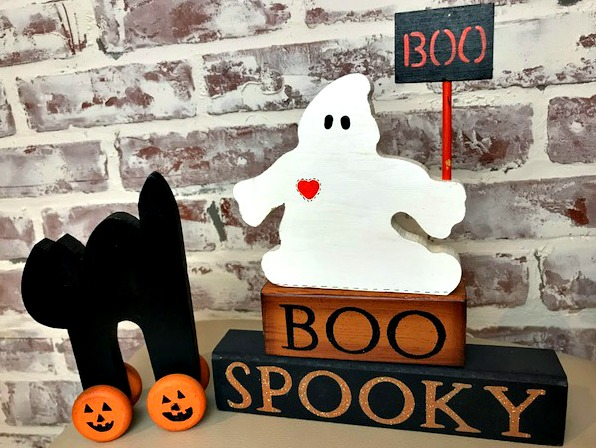 Sweet and Easy Cat and Friendly Ghost Wood Craft Tutorial
