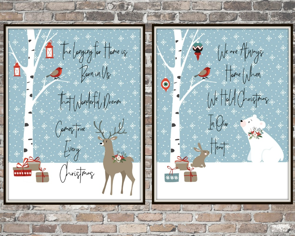 Christmas Forest Friends Free Printables