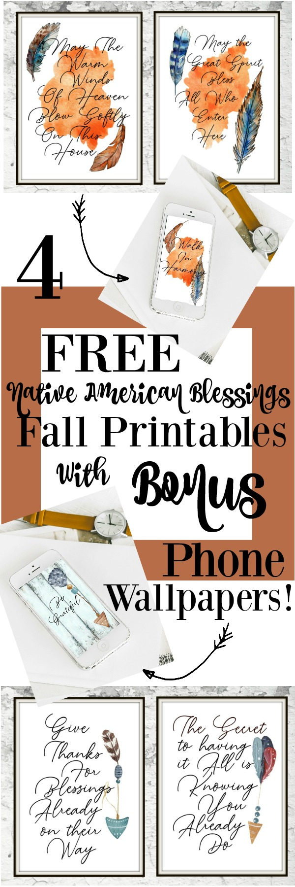 Get your FREE Native American blessings printables! With a bonus digital wallpaper!