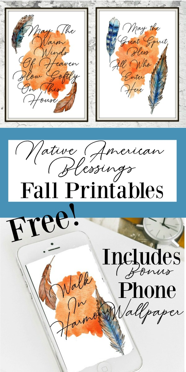 Get these Free Printables! Native American blessings just in time for Thanksgiving