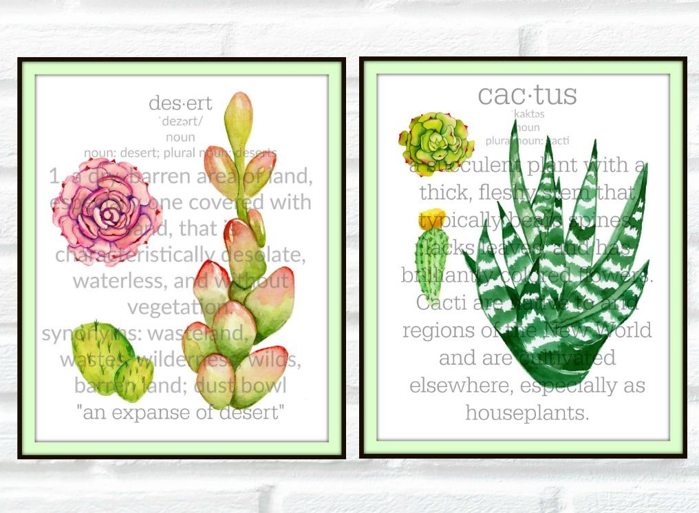 Sensational Cactus & Succulent Botanical Prints