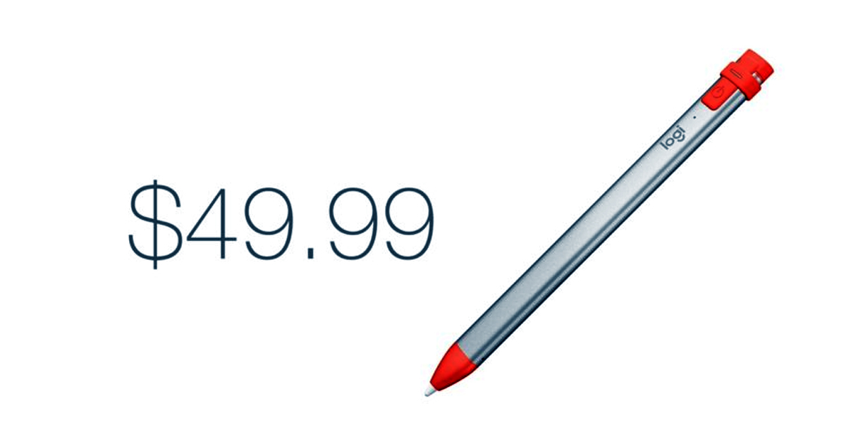 Crayon Logitech Offers iPad Apple Pencil Experience