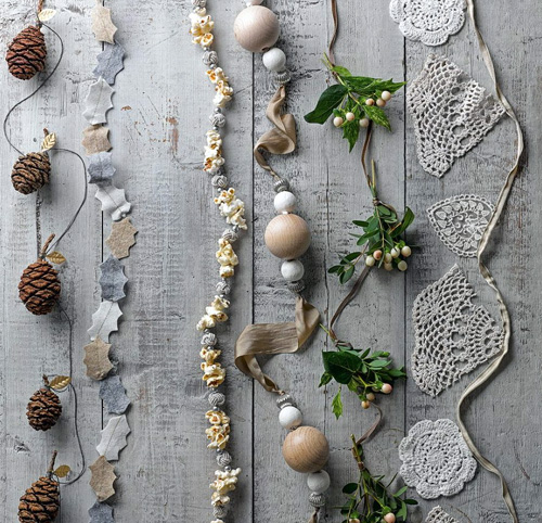 Create unique garlands from recycled materials