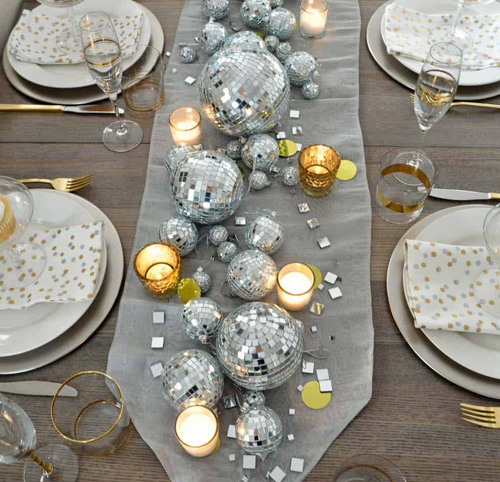 New Year Evening Table Decor Ideas