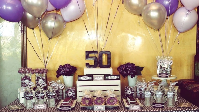 50th Birthday Party Room Decoration Ideas